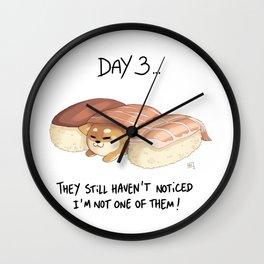 Shibb 03 : Sushi Wall Clock