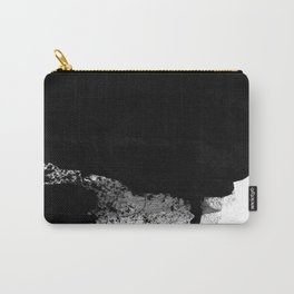 Black Minimalist Abstract 4 Carry-All Pouch