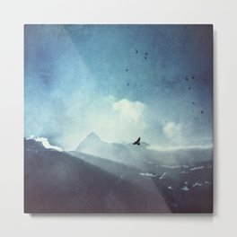 Mountain Light - Daybreak in the Italian Alps Metal Print