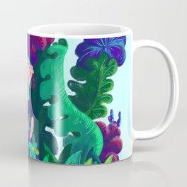 Floral Jungle Frida Kahlo Colorful Illustratration Coffee Mug