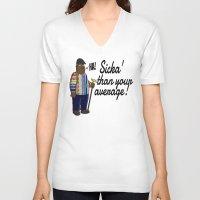 biggie smalls V-neck T-shirts featuring Biggie Smalls by TUFF Clothing