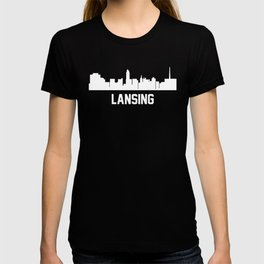 Lansing Michigan Skyline Cityscape T-shirt