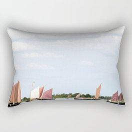 Summer sailing on Dutch Frisian lake Rectangular Pillow