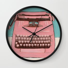 Write, or Pink Smith Corona Wall Clock