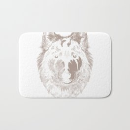 Wild wolf with the dr Bath Mat