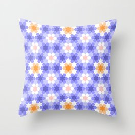Stars and hexagons Throw Pillow