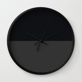 Black and Gray stripe - Low Contrast Wall Clock