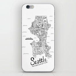 Seattle Map iPhone Skin