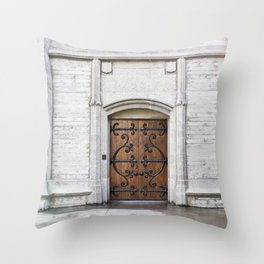 Cathedral Side Door Throw Pillow