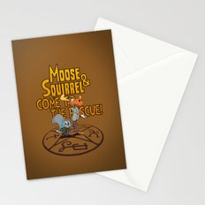 Moose & Squirrel Come to the Rescue! Stationery Cards