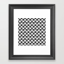 Up And Down Dog Paws Framed Art Print