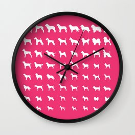 All Dogs (Pink) Wall Clock