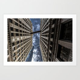 The Chicago Trump Tower Up in Smoke Art Print