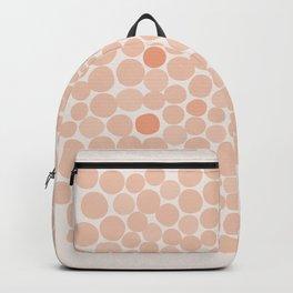 Retro Pink Orange Polka Dots  Backpack