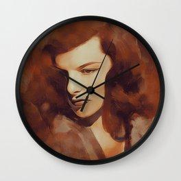 Katharine Hepburn, Hollywood Legend Wall Clock