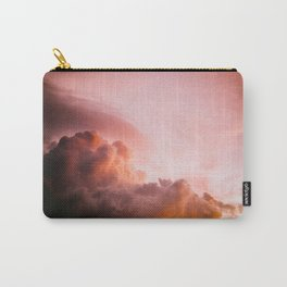 Beautiful Pink Orange Fluffy Sunset Clouds Cotton Candy Texture Sky Carry-All Pouch