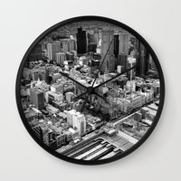 melbourne Wall Clocks featuring Melbourne by kazmcart