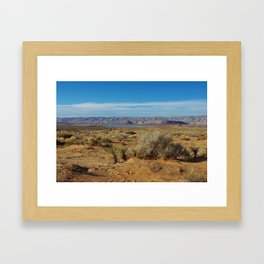 Desert and Lake Powell in Utah Framed Art Print