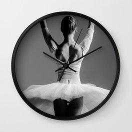 Ballerina's back Wall Clock