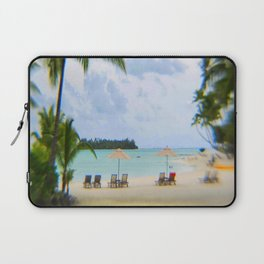 A Dreamy Day at a Tahitian Beach, Bora Bora Laptop Sleeve