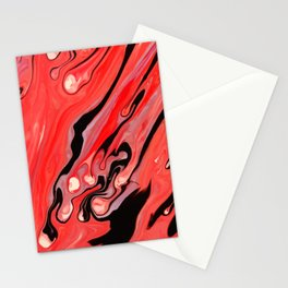 N155 - Oil Painting Abstract Lovely Red Color Artwork Stationery Cards
