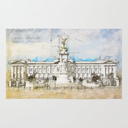 Buckingham Palace, London England Rug