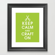 Keep Calm and Craft On Framed Art Print