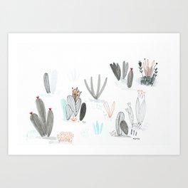 shrubbery Art Print