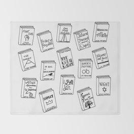 Bibliophilia (Titles) Throw Blanket