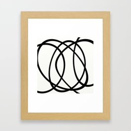 Community - Black and white abstract Framed Art Print