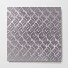 Modern Geometric Diamond Pattern in Aubergine Metal Print