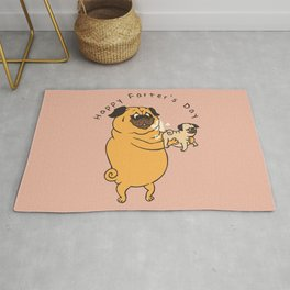 Happy Farter's Day Pug Rug