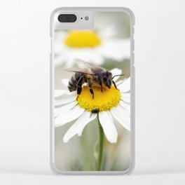 Biene auf der Kamille Wiese Clear iPhone Case