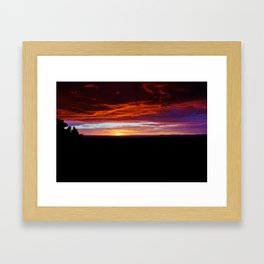 Canyon Sunset Framed Art Print