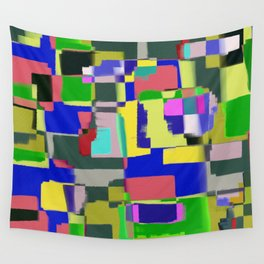 Raw Paint 3 - Colour Abstract Wall Tapestry