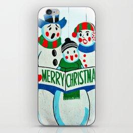 Singing Snowman Family iPhone Skin