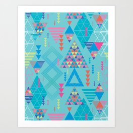 GeoTribal Pattern #010 Art Print