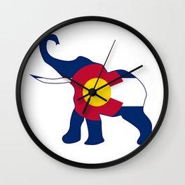 Colorado Republican Elephant Flag Wall Clock