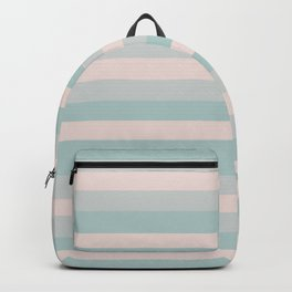 Dusty Teal and Dusty Rose Stripes Backpack