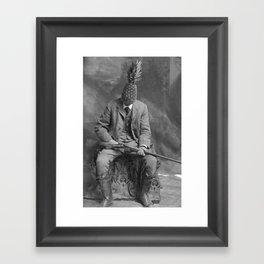 Mr. Pineapple with shotgun. 1904. Framed Art Print