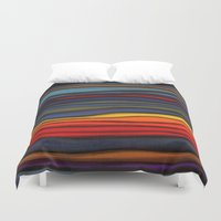 navajo Duvet Covers featuring Navajo Sunset by Alyssa Barclay