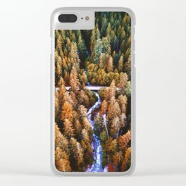 forest aerial view in yosemite Clear iPhone Case