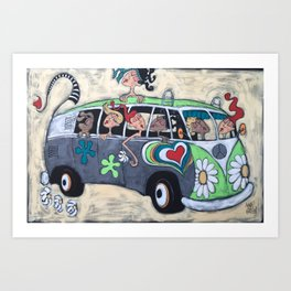 Feeling Groovy Art Print