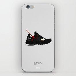 "Off White c/o ""Air Presto"" Black Colourway iPhone Skin"