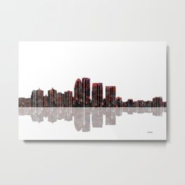 Louisville Kentucky Skyline BW Metal Print