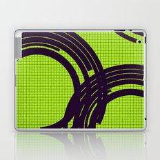 Black open rings on green Laptop & iPad Skin