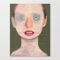luke hemmings Canvas Prints featuring Luke by Guim Tió