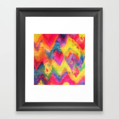 BOLD QUOTATION in NEONS 2 - Intense Rainbow Abstract Watercolor Art Painting Dream Pink Ikat Pattern Framed Art Print