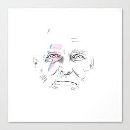 Hipster Bowie Transparent Canvas Print