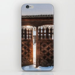 Enter the gate into the winter season! iPhone Skin